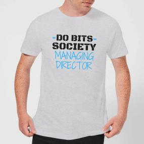 Big and Beautiful Do Bits Managing Director Men's T-Shirt - Grey - L - Grey