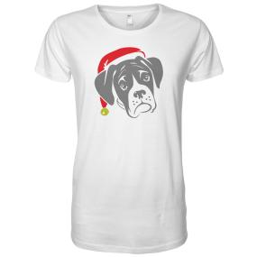 Boxer Dog with Santa Hat Men's T-Shirt - S