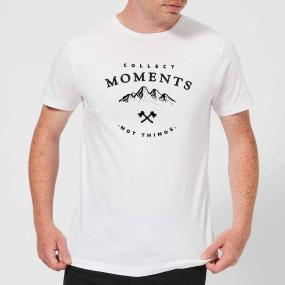 Collect Moments, Not Things Men's T-Shirt - White - S - White