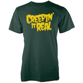 Creepin It Real Men's Forest Green T-Shirt - XXL - Forest Green